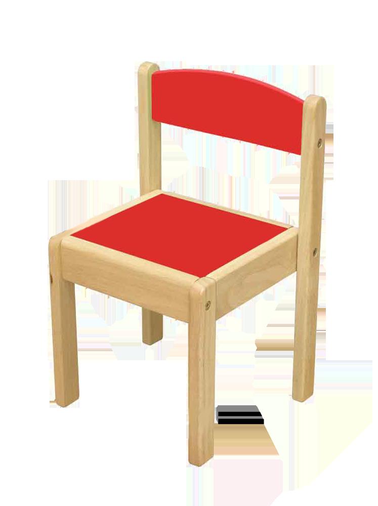 Sedia in legno arte e gioco for Sedia rossa