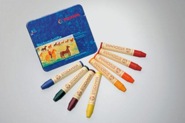 Pastelli a cera 8 colori Stockmar 31001