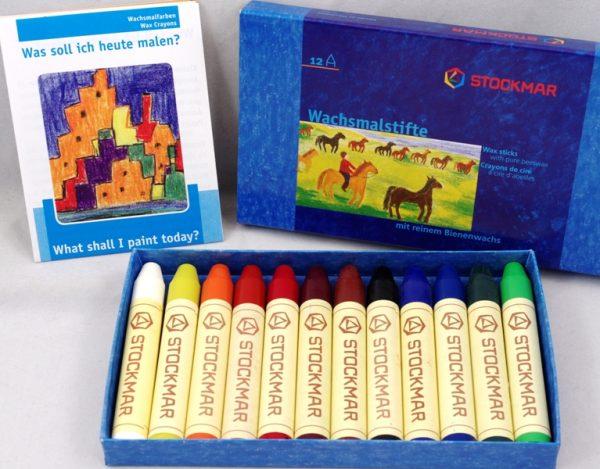 Pastelli a cera 12 colori Stockmar 31200