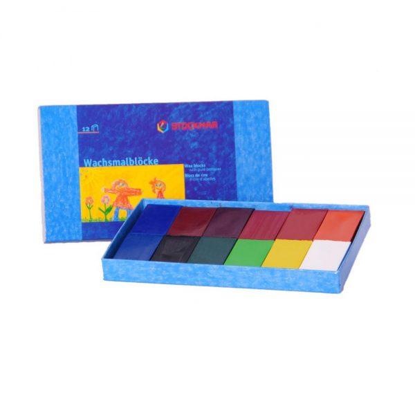 Mattoncini a cera 12 colori Stockmar 34205