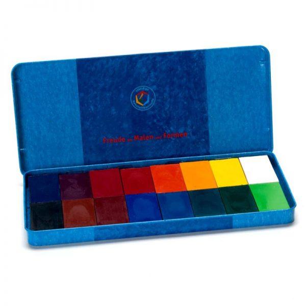 Mattoncini a cera 16 colori Stockmar 35000