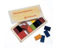 Mattoncini a cera 16 colori Stockmar 35500