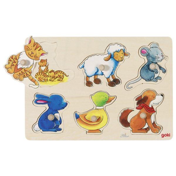Puzzle piolini animali Goki