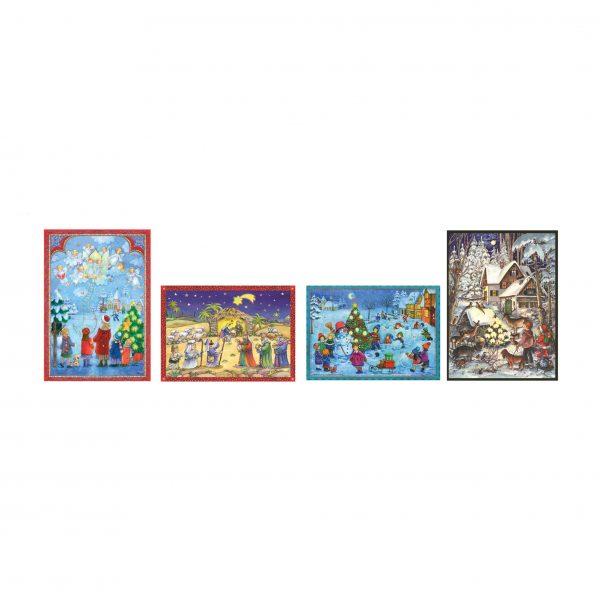 Mini calendari avvento set 4 cartoline