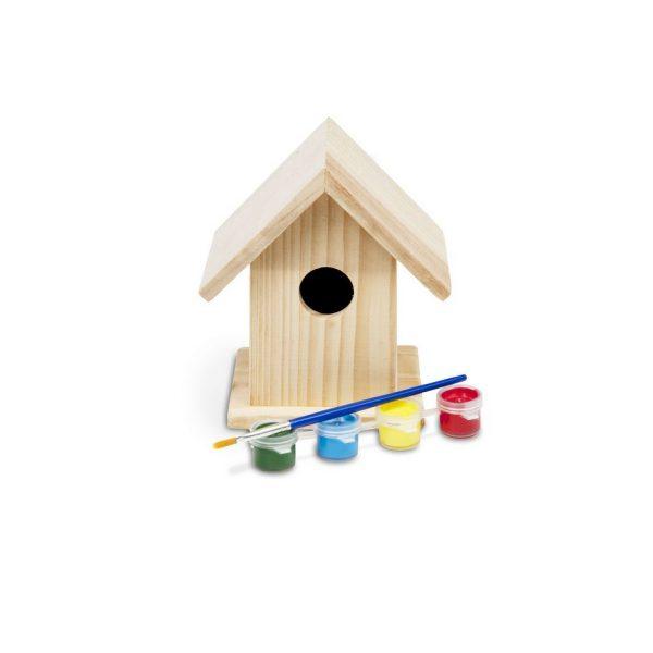 Casetta degli uccellini da dipingere