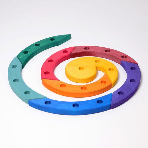 Spirale compleanno arcobaleno Grimm's 03210