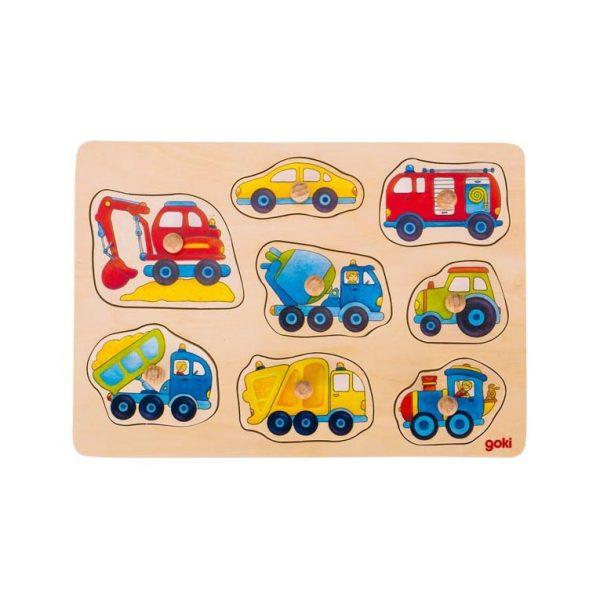 Puzzle piolini veicoli Goki 57726