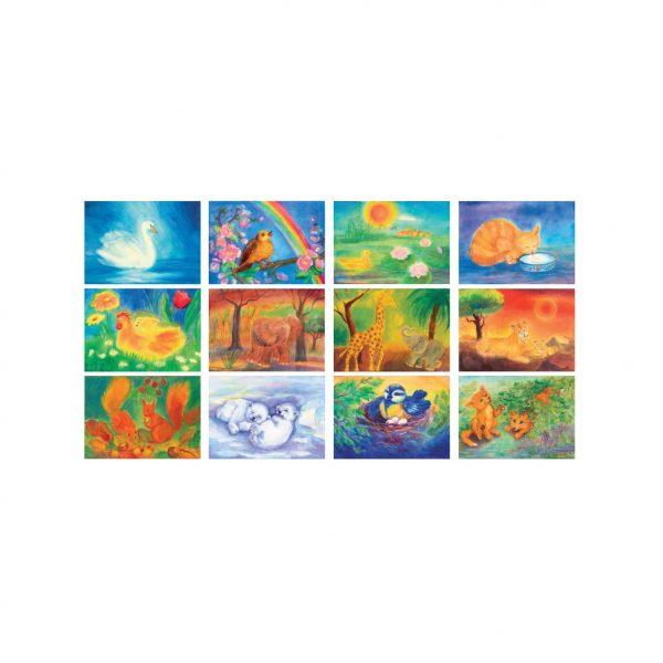 Serie 12 cartoline Animali