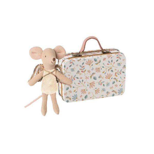 Angioletto bianco nella valigia Maileg