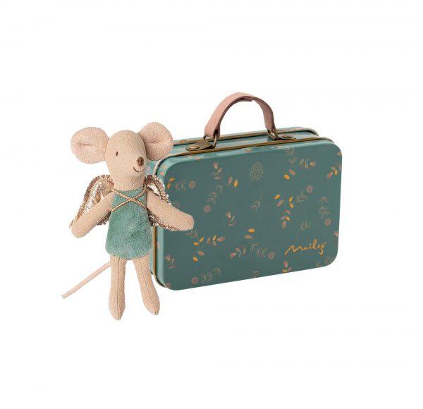Angioletto blu nella valigia Maileg