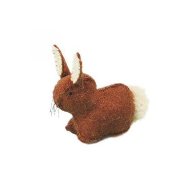 Coniglietto marrone in feltro Glückskäfer