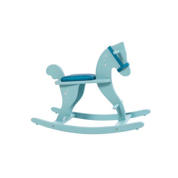 Cavallo a dondolo azzurro Moulin Roty