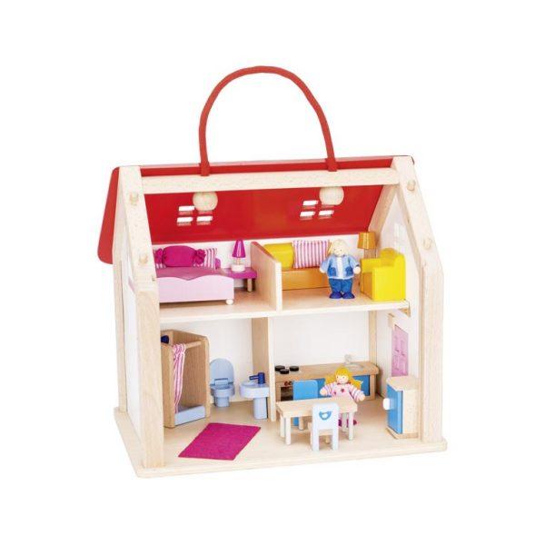 Casa delle bambole con accessori Goki