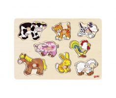 Puzzle piolini animali della fattoria Goki