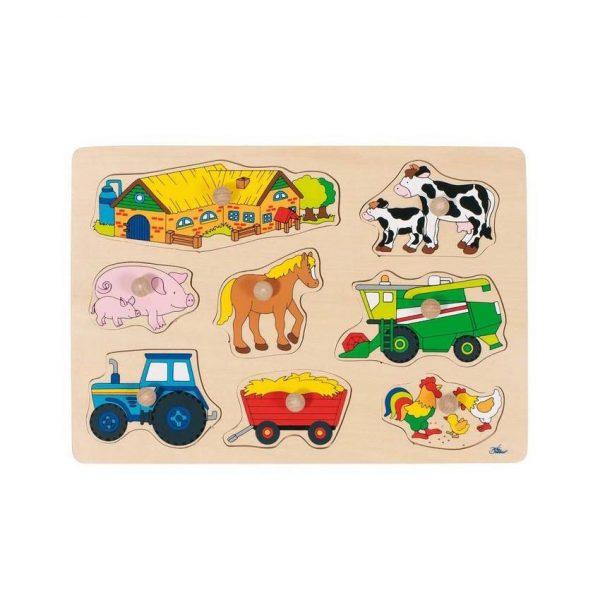Puzzle piolini fattoria Goki