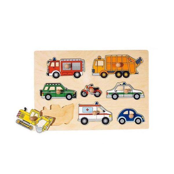 Puzzle piolini trasporti Goki