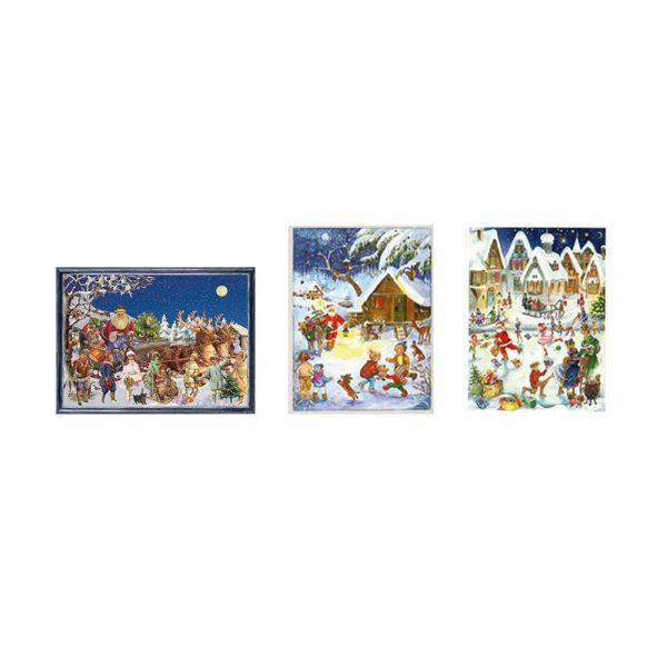 Mini calendari avvento set 3 cartoline